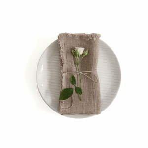 Súprava 2 ľanových obrúskov Linen Tales Classic, 40 x 40 cm
