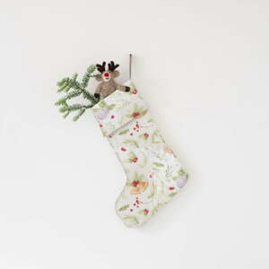 Vianočná ľanová závesná dekorácia Linen Tales Merry