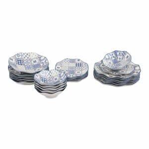 24-dielna súprava porcelánového riadu Güral Porselen Navy