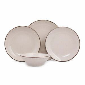 24-dielna súprava béžového porcelánového riadu Kütahya Porselen Classic