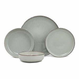 24-dielna súprava zeleného porcelánového riadu Kütahya Porselen Pearl