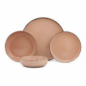 24-dielna súprava ružového porcelánového riadu Kütahya Porselen Pearl