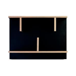 Čierny nástenný policový systém TemaHome Bern, 60cm