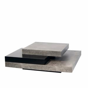 Konferenčný stolík v betónovom dekore s čiernymi detailmi TemaHome Slate