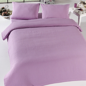 Ľahká prikrývka cez posteľ Pique Bürümcük Lilac,200×240cm