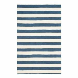 Modrý vlnený koberec Safavieh Ada, 152x243 cm