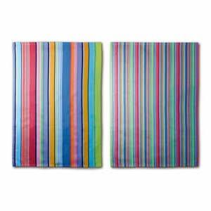 Sada 2 utierok Remember Purple Stripes, 70×50 cm