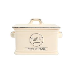 Krémovobiela keramická nádoba na maslo T&G Woodware Pride of Place