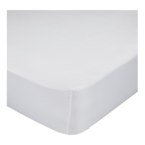 Biela bavlnená elastická plachta Happy Friday Basic, 60x120cm