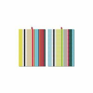 Sada 2 utierok Remember Green Stripes, 70×50 cm