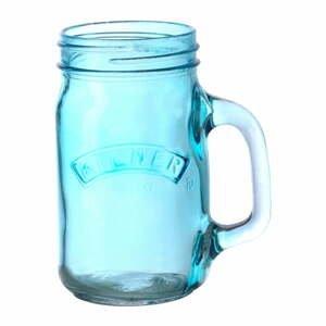 Modrý pohár s rúčkou Kilner 350 ml