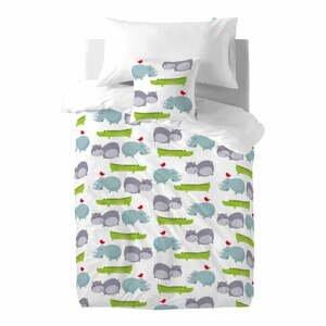 Detské bavlnené obliečky na paplón a vankúš Mr. Fox Hippo, 140 × 200 cm