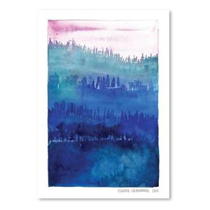 Plagát Americanflat Pink Wood by Claudia Libenberg, 30×42cm