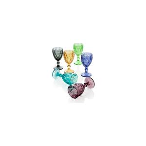 Sada 6 pohárov Brandani Diamante Goblet, 250 ml