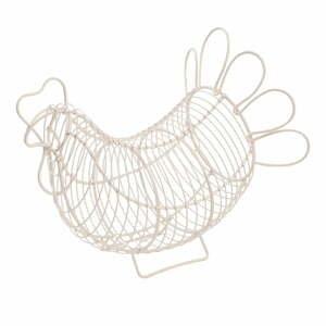 Biely kovový košík na vajíčka T&GWoodware Chicken