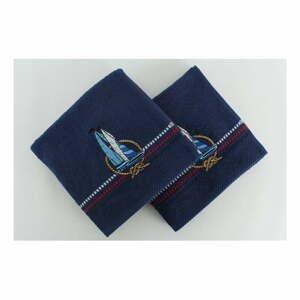 Sada 2 tmavomodrých uterákov Yelken, 50 × 90 cm