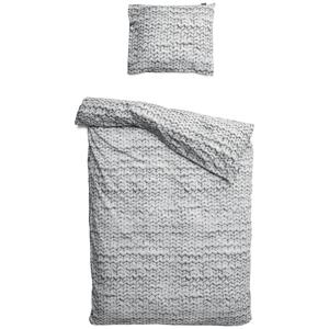 Sivé bavlnené obliečky na jednolôžko Snurk Twirre, 140×200 cm
