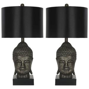 Sada 2 čiernych stolových lámp Safavieh Shaw