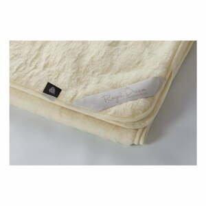 Béžová deka z merino vlny Royal Dream, 220×200 cm