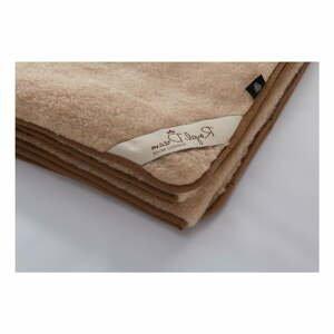 Hnedá vlnená deka Royal Dream Merino, 90×200cm