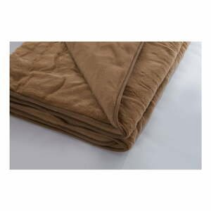 Hnedá deka z merino vlny Royal Dream, 140×200 cm