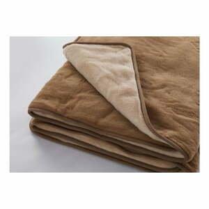 Hnedá vlnená deka z pravej merino vlny Royal Dream Dark Brown, 160×200cm