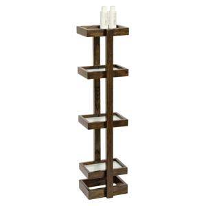 Drevený stojan do kúpeľne z dubového dreva Wireworks Caddy Mezza Dark, výška 73cm