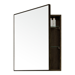 Nástenné zrkadlo s úložným priestorom z dubového dreva Mezza Dark Wireworks, 45×55cm