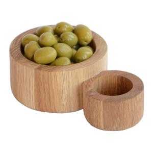 Miska na olivy z dubového dreva Wireworks Olive