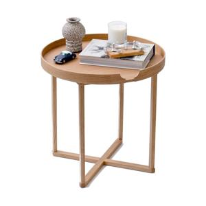 Odkladací stolík z dubového dreva s odnímateľnou doskou Wireworks Damieh, 45×45cm