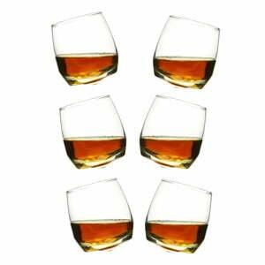 Sada 6 hojdajúcich sa pohárov na whisky Sagaform
