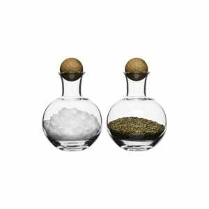 Soľnička a korenička Sagaform Oval Oak, 200 ml