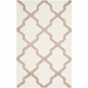 Vlnený koberec Ava White Beige, 76x243 cm