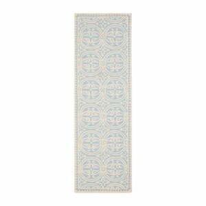Vlnený koberec Marina Light Blue, 76×243 cm