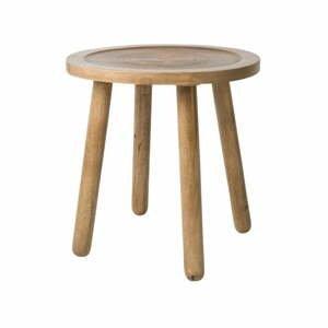 Odkladací stolík z mangového dreva Zuiver Dendron, Ø 43cm
