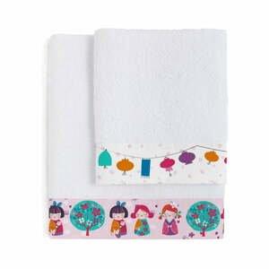 Súprava 2 detských osušiek Moshi Moshi Cherry Blossom