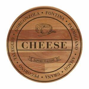 Doska na krájanie z bukového dreva Bisetti Broad Cheese, ø 30cm