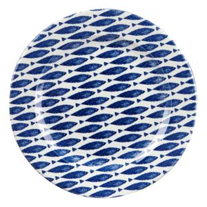 Kameninový tanier Churchill China Couture Fishie Blue, ⌀ 30 cm