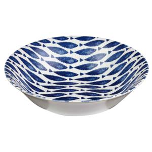 Hlboký kameninový tanier Churchill China Couture Fishie Blue, ⌀ 24 cm