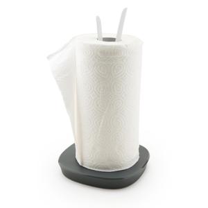 Bielo-sivý stojan na papierové kuchynské obrúsky Vialli Design Livio