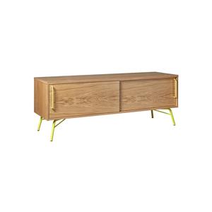 TV stolík so žltými nohami Woodman Ashburn