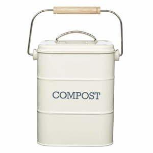 Krémový domáci kompostér Kitchen Craft Living Nostalgia, 3 l