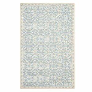 Vlnený koberec Safavieh Marina Blue, 182x274 cm
