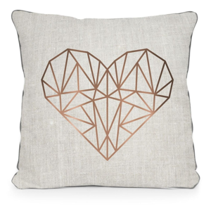 Obliečka na vankúš z mikrovlákna Surdic Golden Heart, 45×45 cm