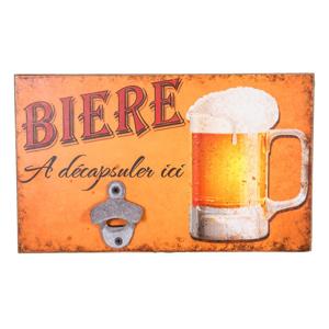 Nástenný otvárač na fľaše Antic Line Biere