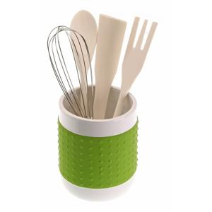 Set 4 kuchynských nástrojov so stojanom Versa Con Green