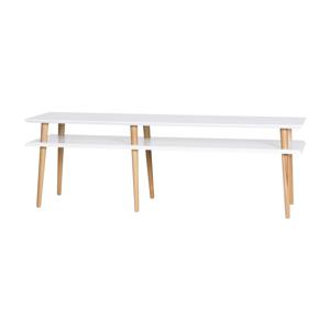 Konferenčný stolík v bielej farbe Ragaba Mugo,dĺžka 159cm