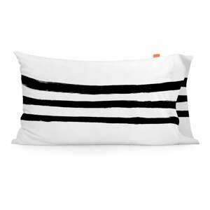 Súprava 2 bavlnených obliečok na vankúš Blanc Stripes, 50 × 75 cm