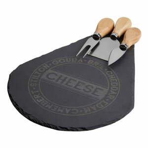Servírovacia doštička na syr s 3 nožmi Premier Housewares Cheeso Set