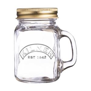Mini pohár s uškom a vekom na skrutkovanie Kilner, 140 ml